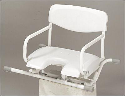 Aliz h3000 si ge de bain pivotant pour baignoire en plastique abs haute r sistance et acier - Siege pivotant pour baignoire pour handicape ...